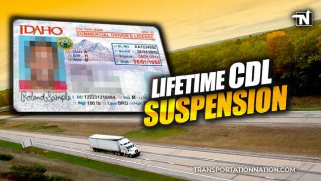 lifetime cdl suspension in idaho
