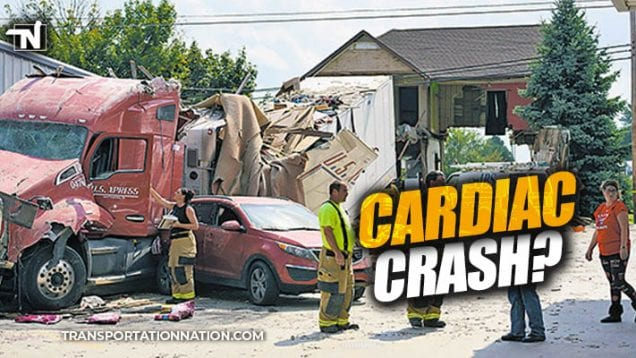 truck crashes through house – cardiac crash