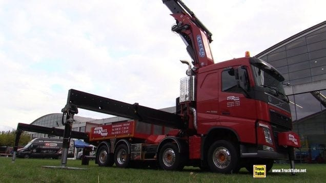 2020 Volvo FH 500 Euro6 Truck with Hiab Effer 1855 37m Crane – Walk Around Arm Extension Demo