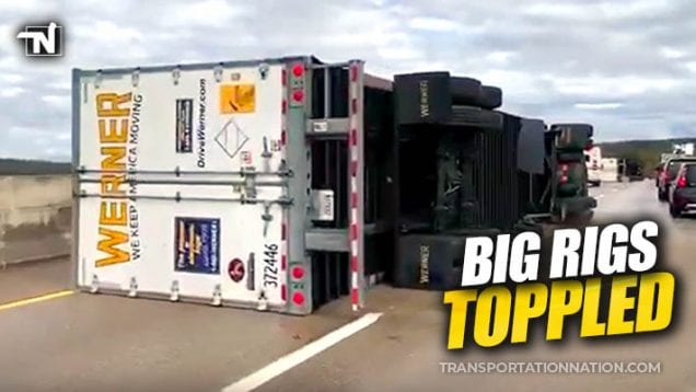 Big Rigs Toppled in Tennessee