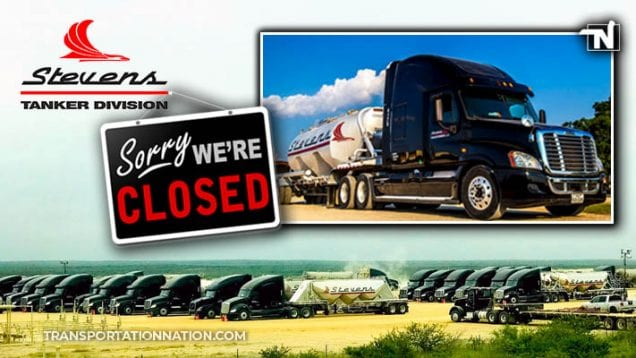 Stevens Tanker Division Closed for Business