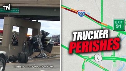 Trucker Perishes in Crash