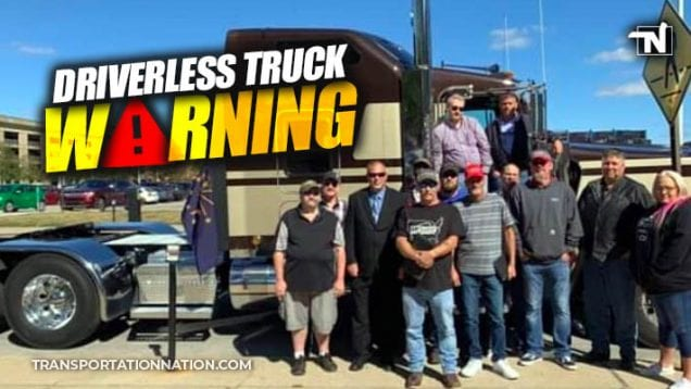 driverless truck warning – indianapolis