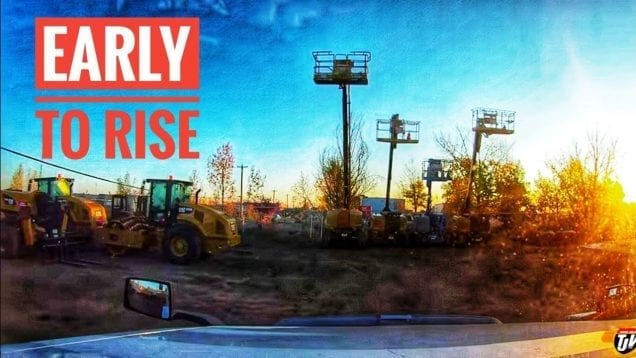 My Trucking Life | EARLY TO RISE | #1822