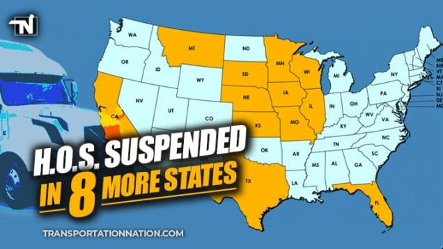 HOS Suspended in 8 More States