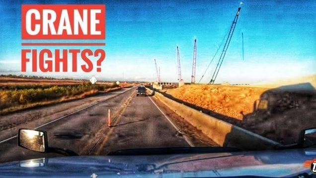 My Trucking Life | CRANE FIGHTS? | #1837