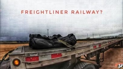 My Trucking Life | FREIGHTLINER RAILWAY? | #1836