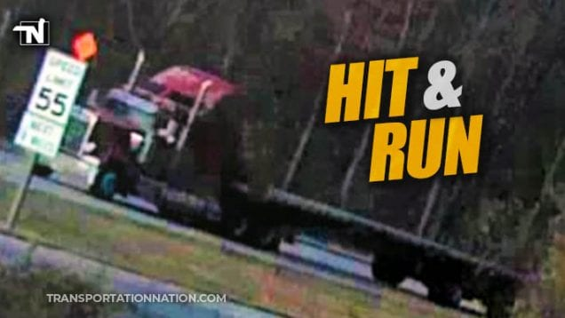 police search for truck involved in hit and run
