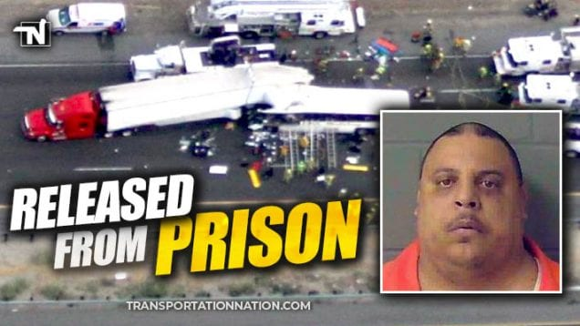 trucker pleads guilty in semi vs bus crash that killed 13 in california – RELEASED FROM PRISON