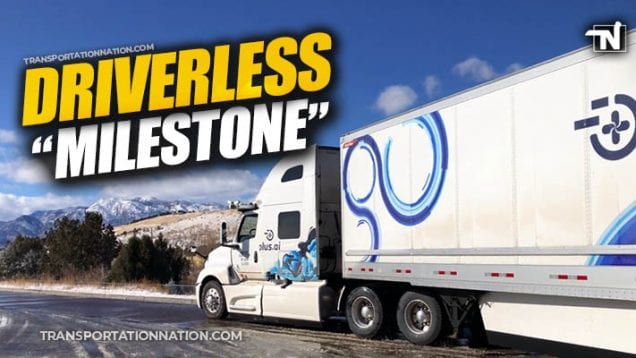 Driverless Milestole – Plus.ai Travels 2800 Miles