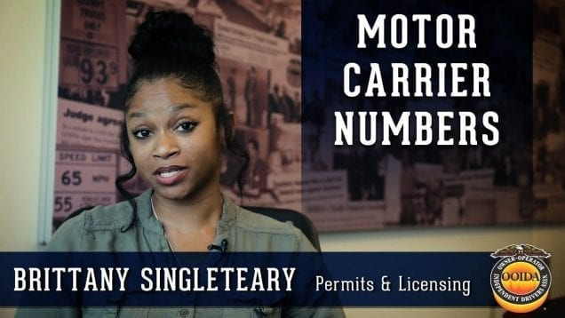 What is a Motor Carrier Number and Who Needs One? (Video by OOIDA)
