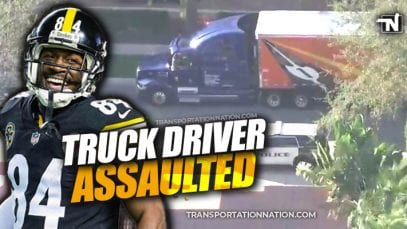 Antonio Brown accused of assaulting truck driver