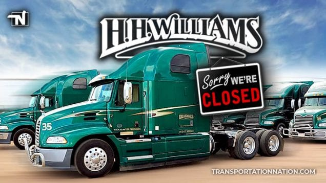 H H Williams Trucking – CLOSES DOWN