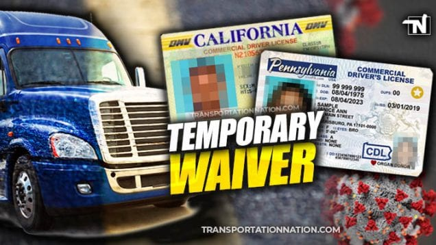 CDL temporary waiver covid19