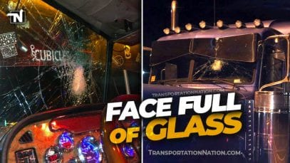 Face full of glass
