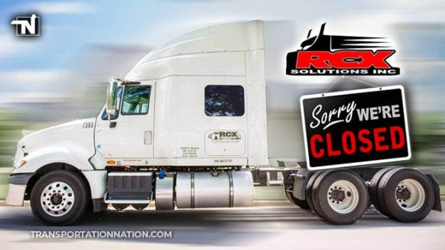 RCX Solutions Closed for Business