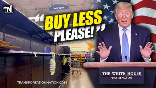 Trump asks people to buy less please