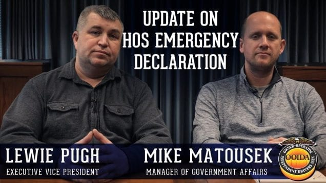 OOIDA's Lewie Pugh and Mike Matousek on the FMCSA Emergency Declaration and COVID-19 (Video)