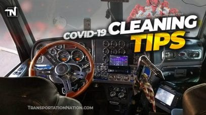 COVID19 Trucker Cleaning Tips