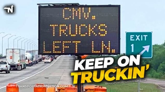 trucks bypass covid19 checkpoint in texas