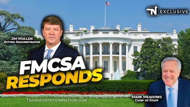 FMCSA responds to White House Meeting with truckers